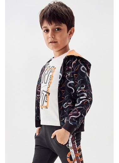 Nebbati Erkek Çocuk Desenli Eşofman Üstü 20Fw1Nb3429 Renkli